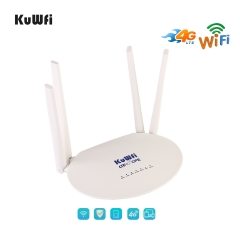 Cat6 4G CPE LTE Router with SIM Card Slot and Powerful 4pcs Non-Detachable Antenna