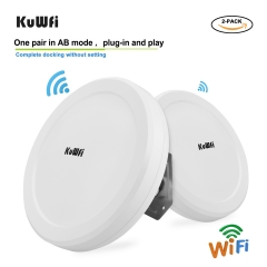 KuWFi 900Mbps Outdoor Wireless Wifi Bridge 5.8G Wireless Repeater/AP Router Point to Point 3-5KM Wifi Coverage 24V POE Adapter