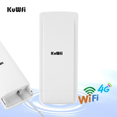 KuWFi Outdoor 4G LTE Router with 48V POE Adapter Outdoor Waterproof 4G LTE CPE Router with Sim Card Slot