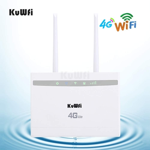 KuWFi 4G LTE Router,300Mbps Wireless or 150Mbps 4G lte high speed Access Point WIFI Repeater Extender Bridge CPE Router with sim slot