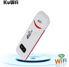 KuWFi 4G LTE Mobile WiFi Hotspot USB Dongle Support SIM Card High Speed Portable Travel Mini Router for USA/CA/Mexico
